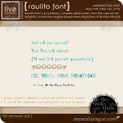Raulito Font (Handwritten Font)
