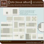 liv.edesigns Foto Focus Album Templates: All you need to create an awesome album featuring your beautiful photos!
