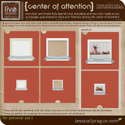 Center of Attention Album Templates Vol.1