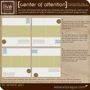 Center of Attention Album Templates Vol.2