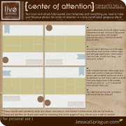 Center of Attention Album Templates Vol.3