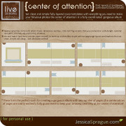 Center of Attention Album Templates - The Whole Shebang