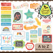 A to Z Words and Phrases Labels