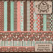 Cuckoo 4 U Chocolate Patterned Paper