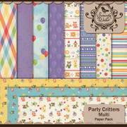 Party Critters Multi Paper pack