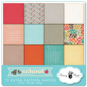 Off to School Extra Pattern Papers