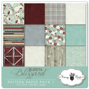 Blissful Blizzard Pattern Papers 1