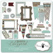 Blissful Blizzard Embellishments