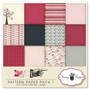 Love Note Pattern Papers 1