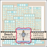 Beach Bingo Card Kit