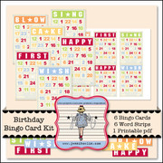Birthday Bingo Card Kit