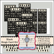 Black Bingo Card Kit