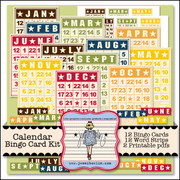 Calendar Bingo Card Kit