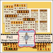 Fall Bingo Card Kit