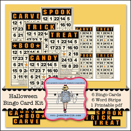 Halloween Bingo Card Kit - Snap Click Supply Co.