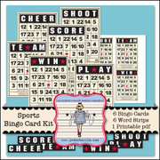Sports Bingo Card Kit