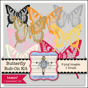 Butterfly Rub-On Kit