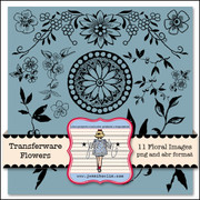 Transferware Flowers