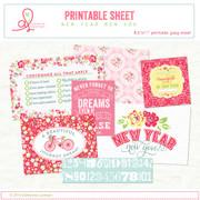 Printable sheet New Year cards no.2