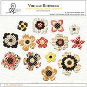 Chipboard vintage flowers