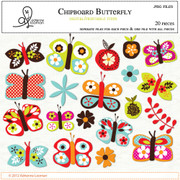 Chipboard butterflies