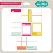 Life Card Templates 3x4 Set 1