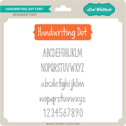 Handwriting Dot Font