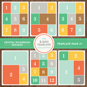 Crystal's 8.5x11 Template Collection - Template Pack #1
