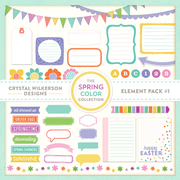 The Spring Color Collection - Element Pack #1