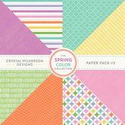 The Spring Color Collection - Paper Pack #3