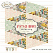 Vintage Easter Bunny Printable Banner Bunting