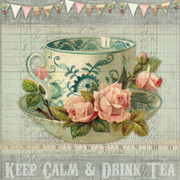 Vintage Style Printable Wall Art - Keep Calm and Drink Tea