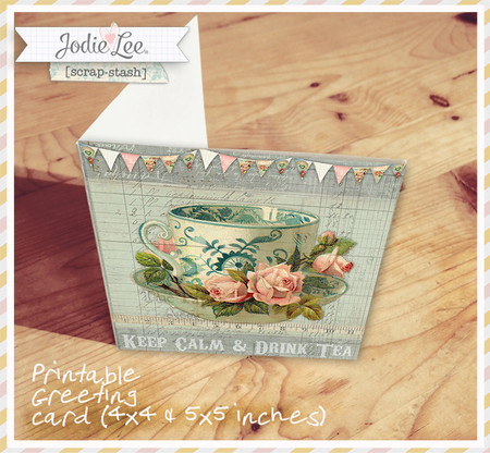 Beautiful Vintage Style Card for you to Print!