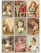 Sweet Vintage Glamor Girls Printable Gift Tags