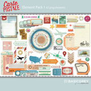 Carte Postale Element Pack 1