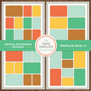 Crystal's 12x12 Template Collection - Template Pack #2