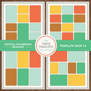 Crystal's 12x12 Template Collection - Template Pack #3