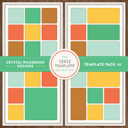 Crystal's 12x12 Template Collection - Template Pack #6