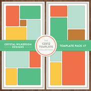 Crystal's 12x12 Template Collection - Template Pack #7