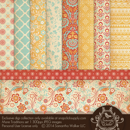 This pack features 10 decorative papers.