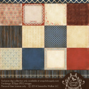 This pack features 12 decorative papers that have unique textures such as grouted tile, embossed punched tin, crackle finishes, weathered wood, and more!