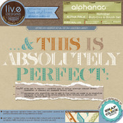 liv.edesigns Alphanac - Alphabet Rub-Ons & Brush Set