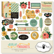Burlap and Bouquets Element Pack #1