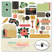 Burlap and Bouquets Element Pack #2