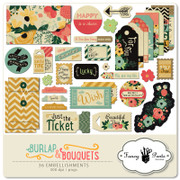 Burlap and Bouquets Element Pack #3