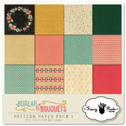 Burlap and Bouquets Paper Pack #1