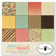 Burlap and Bouquets Paper Pack #2