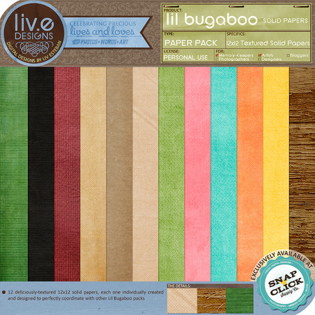 liv.edesigns Lil Bugaboo Solid Papers