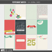 Peppermint Winter | Journal Cards
