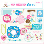 Sweet Routine Clip Art Elements pack no.1